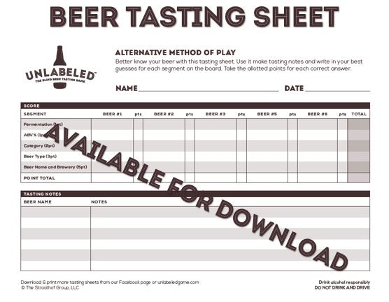 Unlabeled The Blind Beer Tasting Game By Nathan