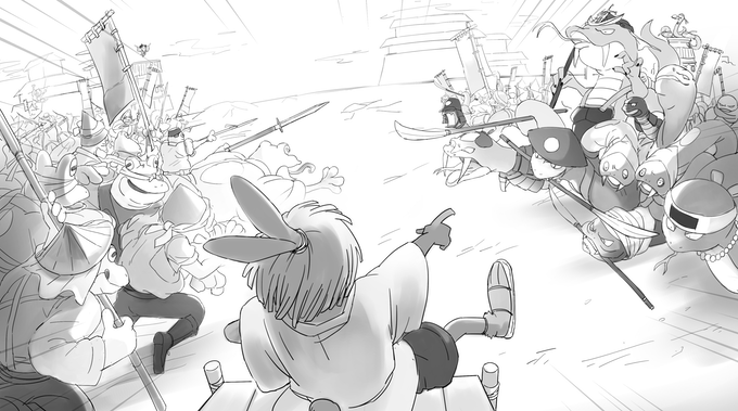 Project Rap Rabbit's battles are epic clashes filled with action and humour