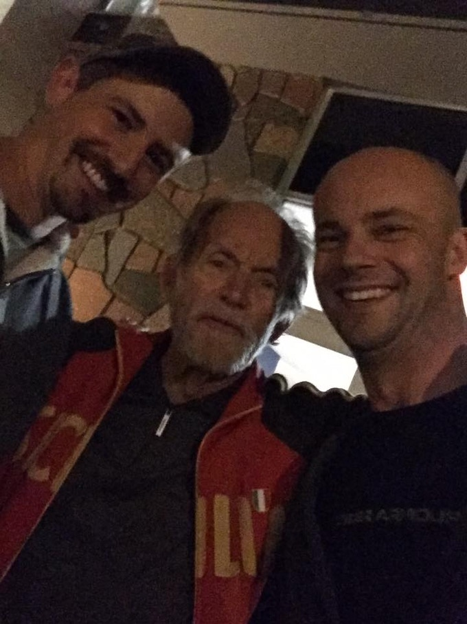 Lance Henriksen hanging with Chas and Gary