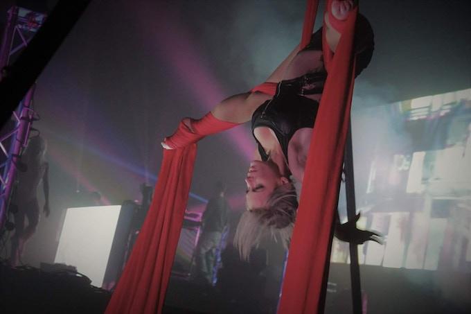 Aerial Acrobat Amy Truax as MOXIE