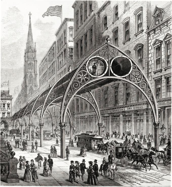 Rufus Gilbert – Pneumatic Railway (1880)