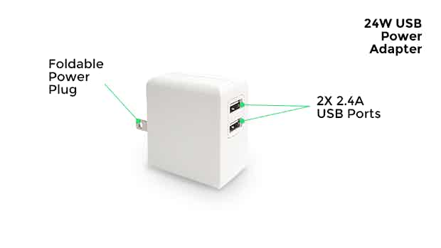 24W USB Power Adapter