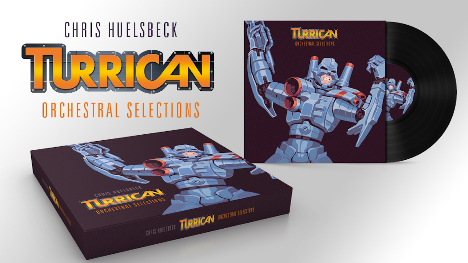A limited Collector's Edition Box Set featuring new live orchestra recordings of music from Turrican 1, 2 & 3 + a new Bonus Amiga Album
