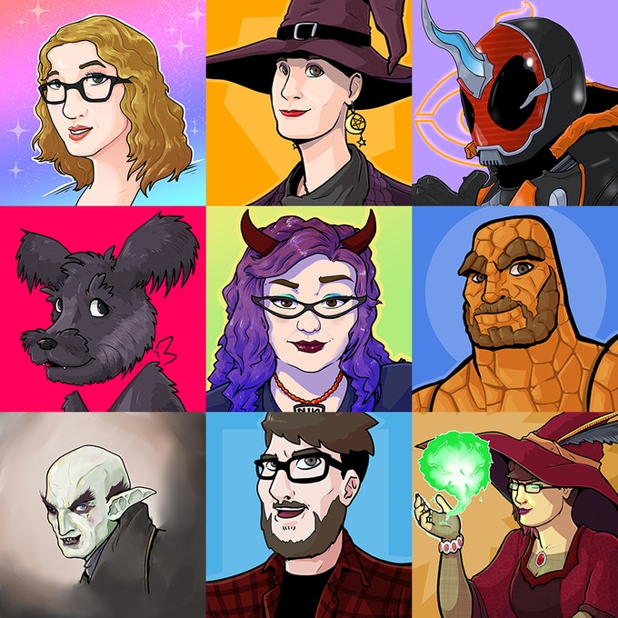 Previous portrait commissions by Traci