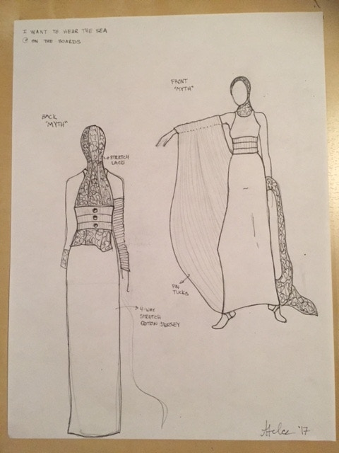 Costume Design Sketches by Anna Telcs