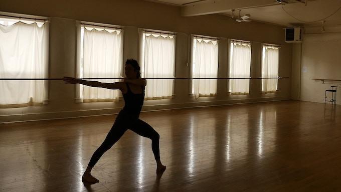 Rachel Green working on choreography