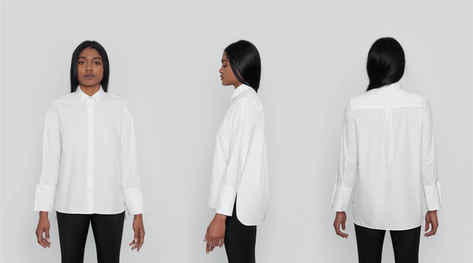 Classic Button-Down Shirt: The go-to classic long sleeve shirt with just enough of a fashion detail. A relaxed but modern fit with tuxedo-inspired cuffs. $118 Kickstarter Price