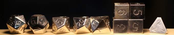 Legendary Sterling Silver - When you simply must have the most elegant dice on the planet.