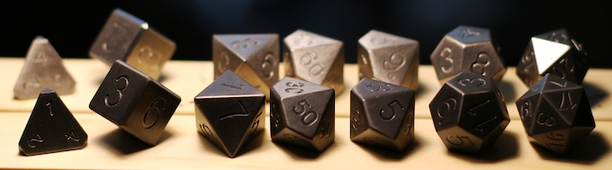 Choose from Natural Silver Zirconium or Forge Blackened, either way you'll own the most amazing dice you've ever held.
