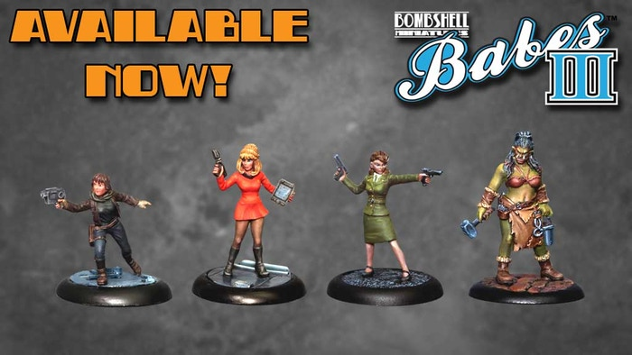 The third wave of all new miniatures for the tabletop gaming and painting community featuring iconic female characters.