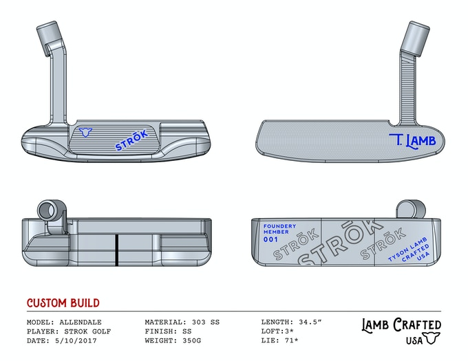 Putter concept by Lamb Crafted.  Final design subject to change but guaranteed to be kick ass!