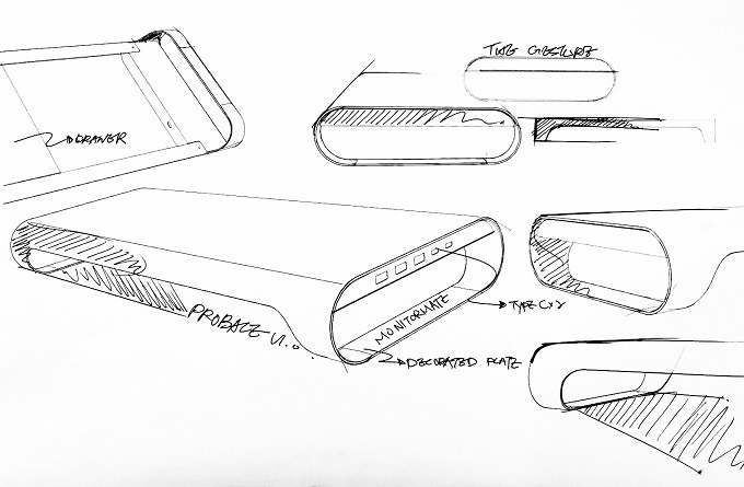 Product design sketch