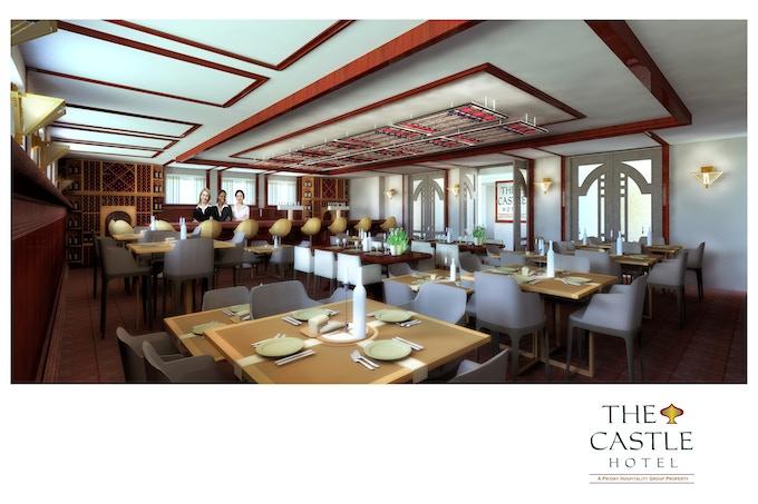 Rending of Castle Hotel Restaurant