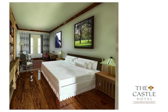 Rending of Castle Hotel Guest Room