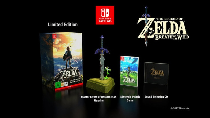 © Nintendo, The Zelda Resurrection Sword for Zelda Breath of the Wild collector edition. For Europe, US, Japan and Australia
