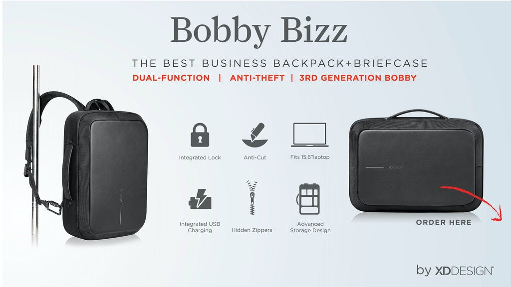 Bobby Bizz, The Best Business Briefcase and Backpack project video thumbnail