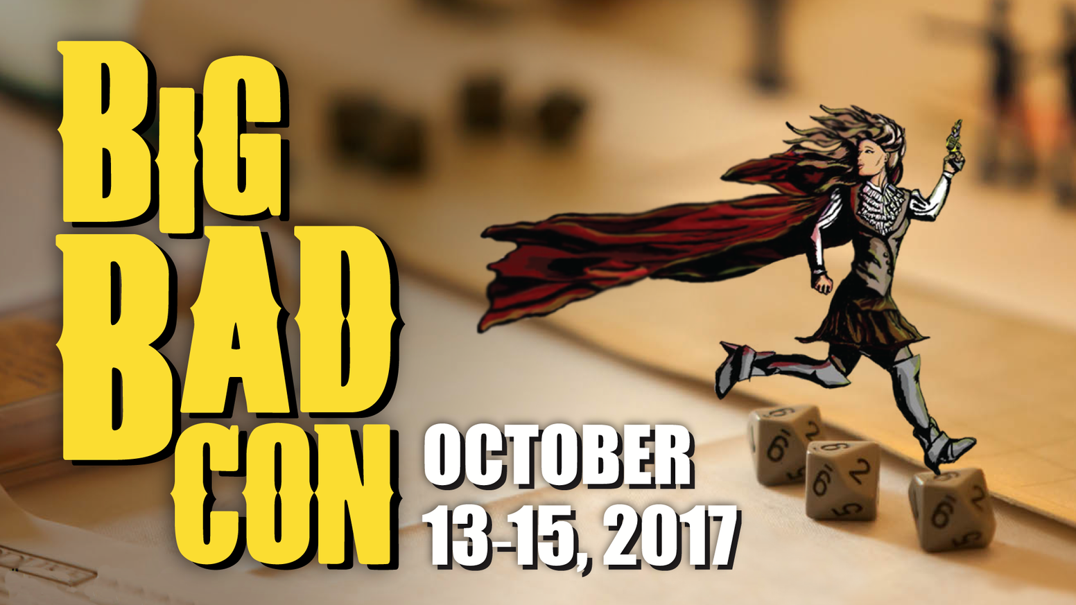 Big Bad Con is built on great games, great game masters, and a welcoming community. Come join us October 13-15, 2017!