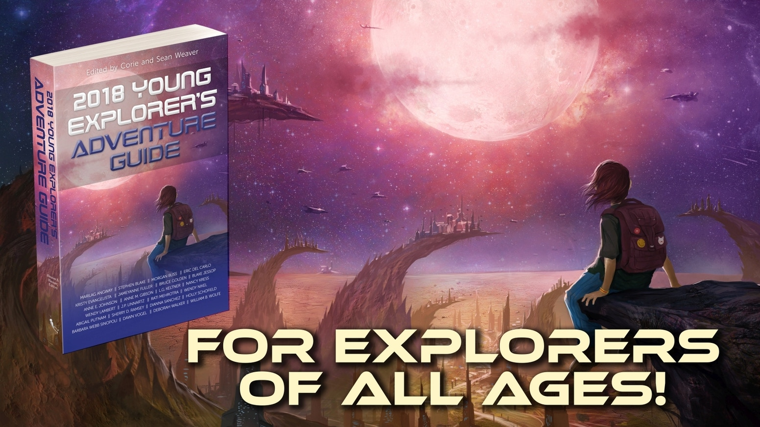 Science fiction anthology for explorers of all ages. Give the stars to a new generation with diversity, representation & great stories!