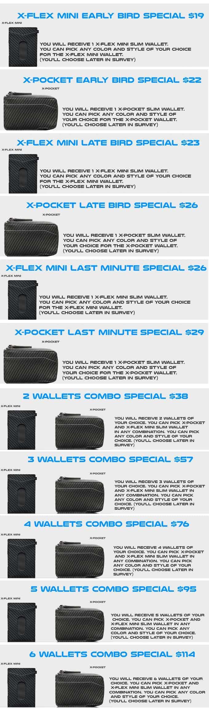 X-Flex Mini and X-Pocket rewards
