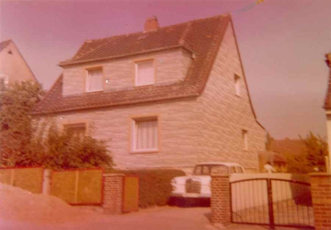 "Our house in 1974-75- I was a school-boy. I wish I had today papa's Mercedes 190 ""Heckflosse"" build in the 60s"