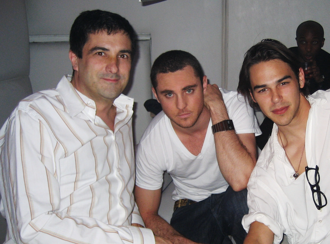 Stephen with Derek Magyar & Jonathan Trent from the movie, in 2007