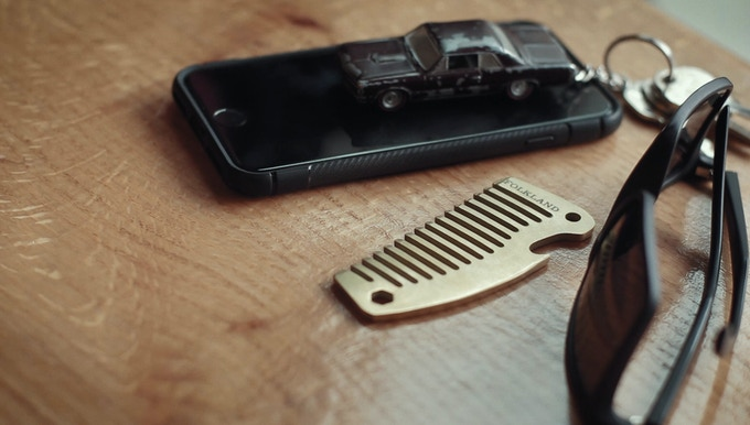 Pocket Comb in Brass by Folkland