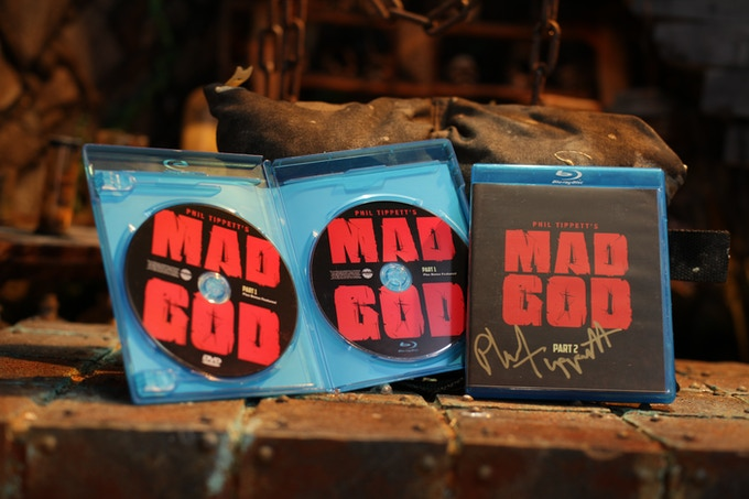 MAD GOD Part 3 Blu-Ray/DVD set with bonus features, signed by Phil Tippett (Sets shown are from MAD GOD 1 & 2. You will receive Part 3. )