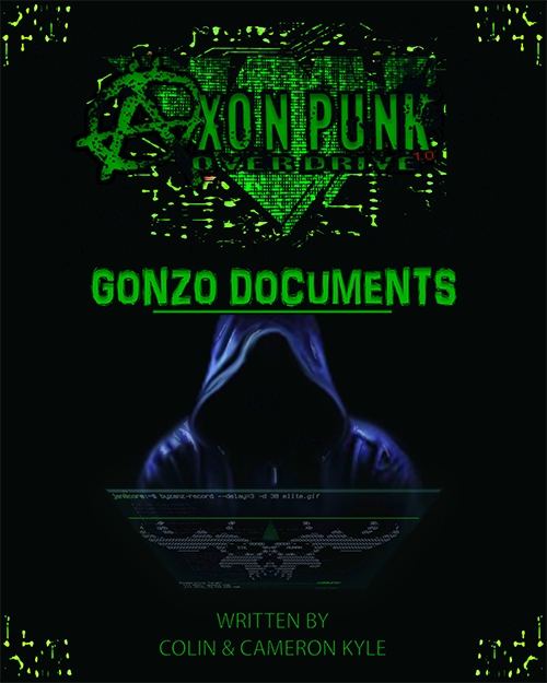 The cover for the first edition of the Gonzo Documents, which the Wrong Brothers assembed for ConTessa's GenCon fundraiser in 2016.
