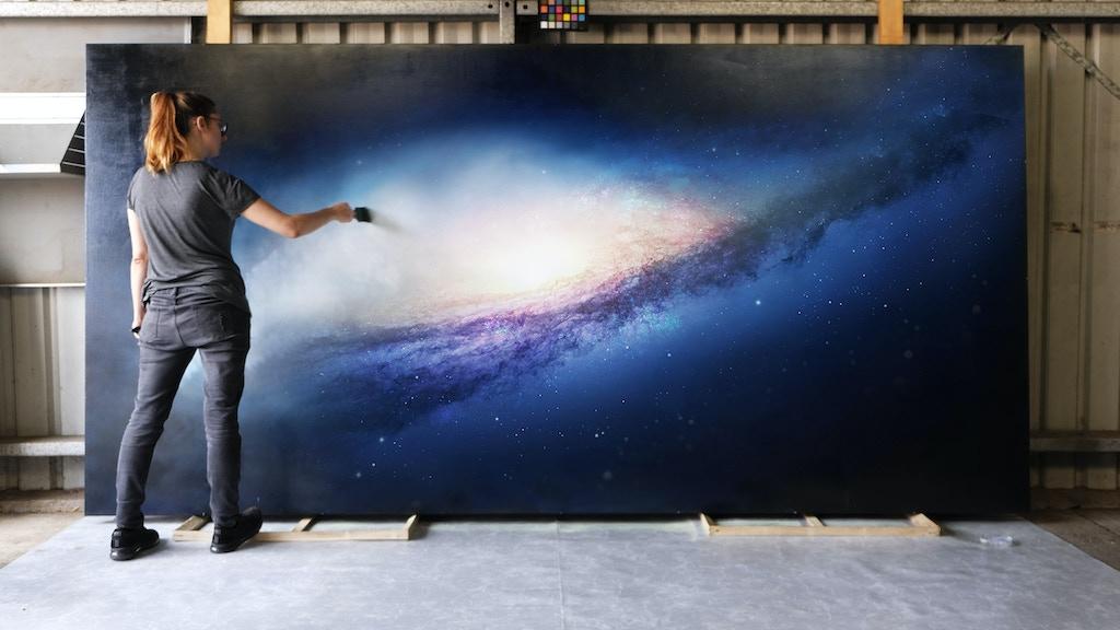 Glowing Galaxies | Glow-In-The-Dark Deep Space Artwork project video thumbnail