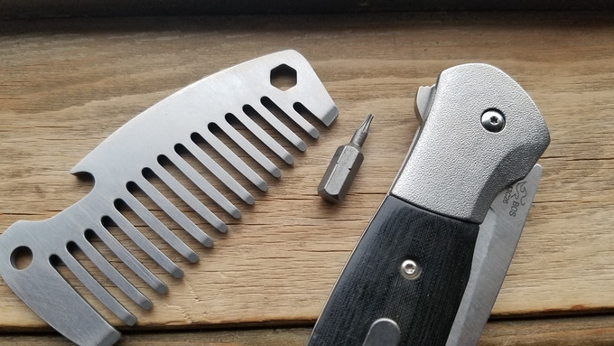 Titanium Pocket Comb, with torq bit