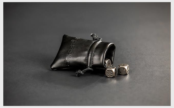 Soft Leather Dice Bag
