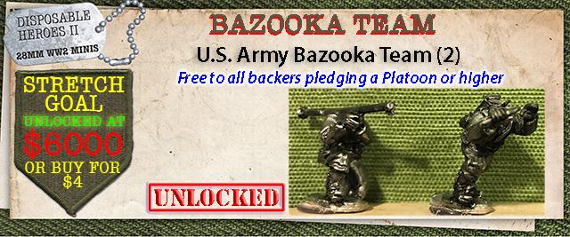 Stretch Goal $6000 - U.S. Army Bazooka Team