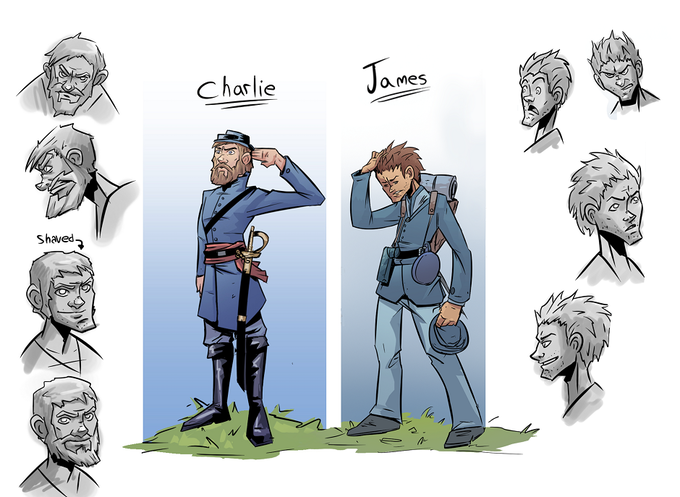 James and Charlie concept art by Nicolas Touris