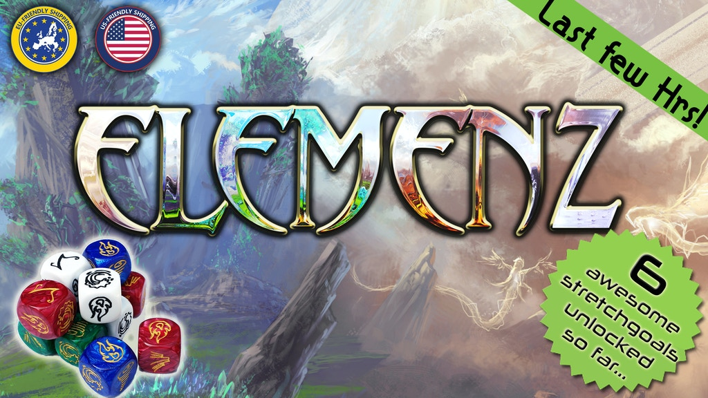 ElemenZ - the duelling dice game of alien shamans project video thumbnail