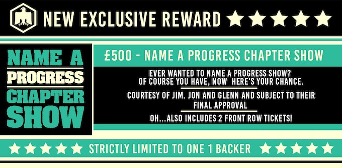 Name a PROGRESS Wrestling Chapter Show! Select the 'The Ritz' £500 option on the right.