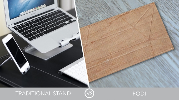 Compared to an ordinary stand, FODI is extremely light and easy to store!