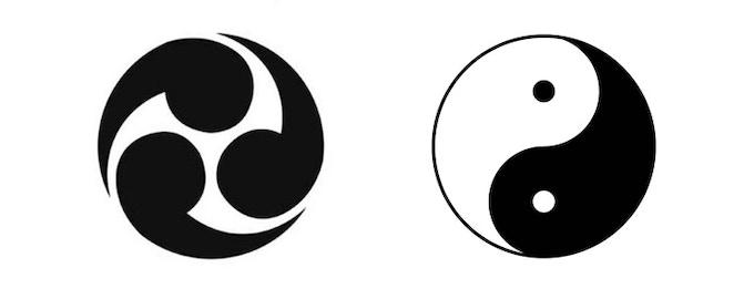 Magatama Dice Aluminum Dice With East Asian Symbols By Anvi Dice