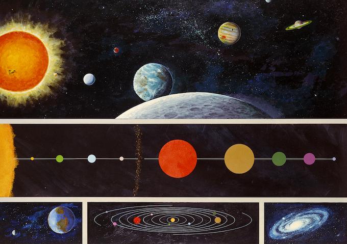 NASA solar system illustration by Rick Guidice