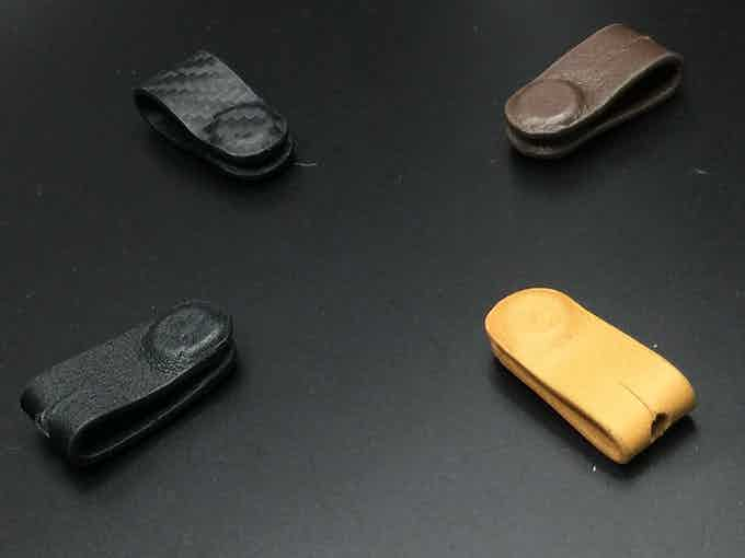 The magnetic cable organiser will match with the X-Pocket wallet leather