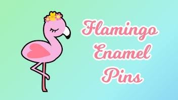 Flamingo Enamel Pins