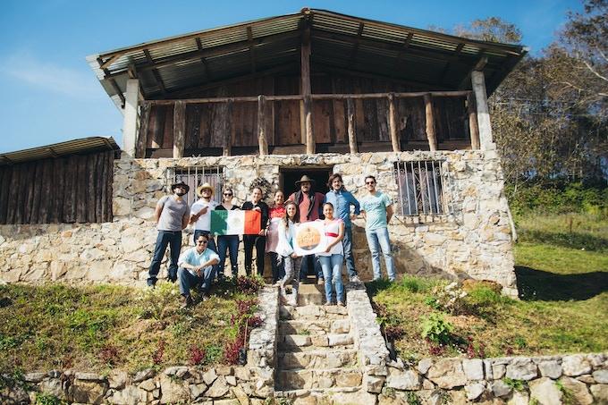 Nuestro grupo de noviembre en la ruta del café, en Puebla.