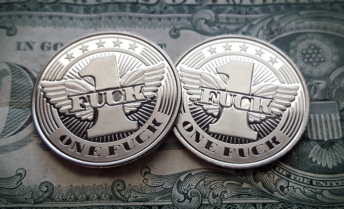 Flying Fuck Coin - Front & Back