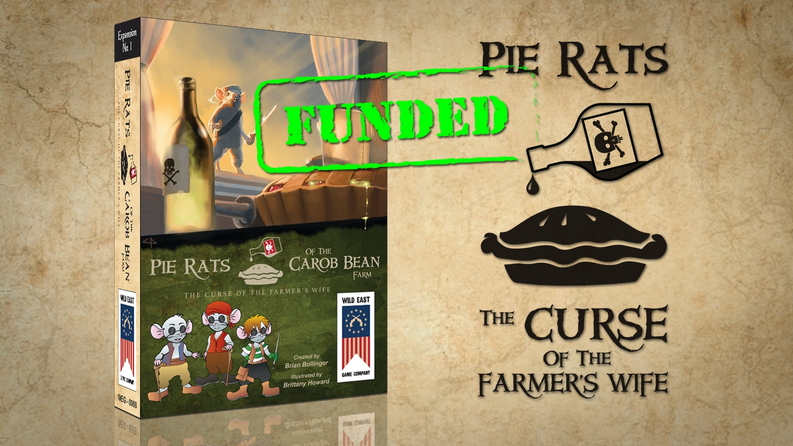 Curse of the Farmer's Wife - an expansion for the game Pie Rats of the Carob Bean Farm.