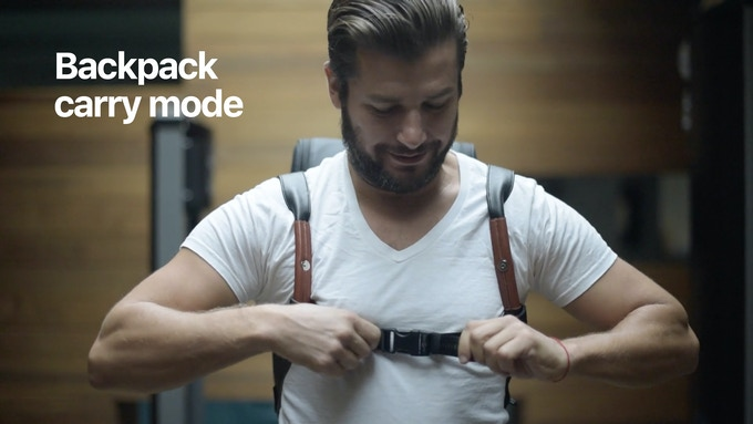 Use the dedicated snap-on chest strap to quickly transform the duffle bag into a backpack for those quick moves through the airport or city.