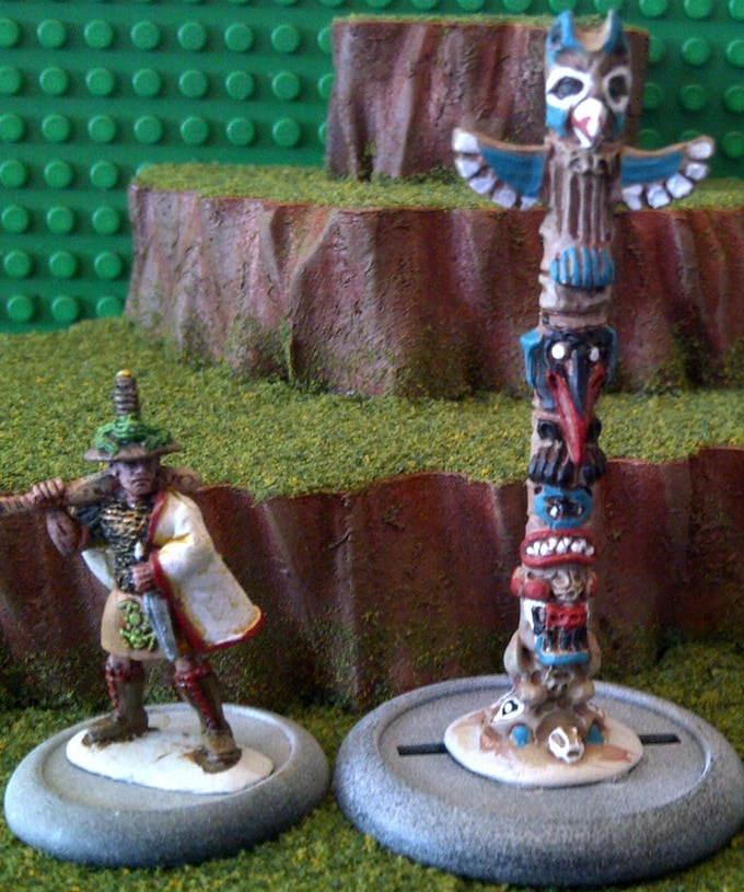 Pacific Northwest Totem Pole - $8 (model included for scale)