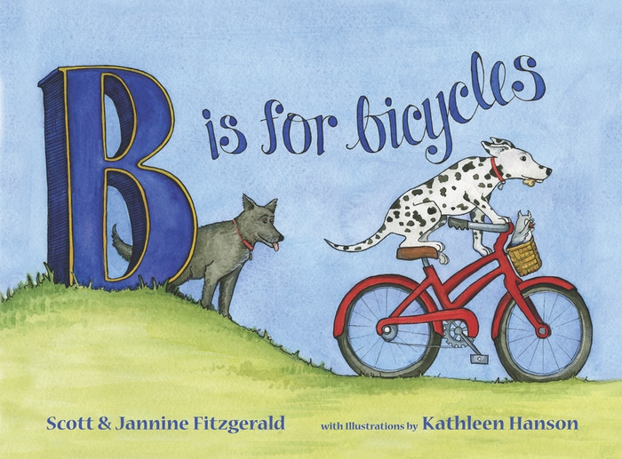 A kids' book showing the fun and environmental benefits of the cycling lifestyle through the eyes of two dogs and their animal buddies.