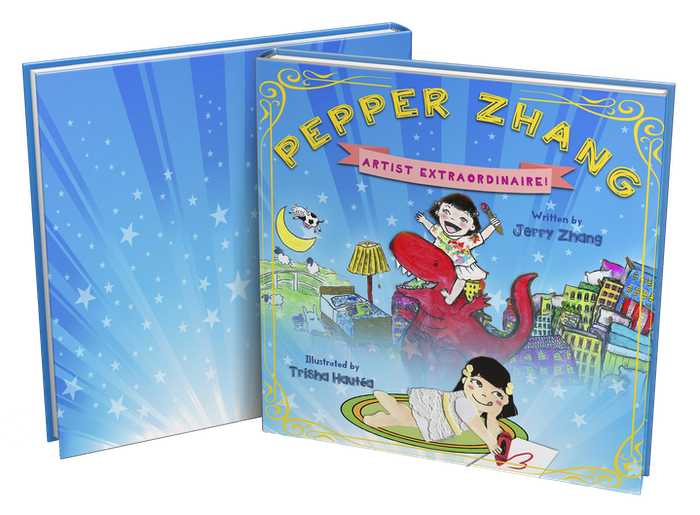 An illustrated children's book starring a spirited Asian toddler whose imagination takes her on a journey into creativity & art!