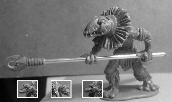 Mo'o the Guardian Gecko - $10 (this is a metal model. this model includes 3 different heads)