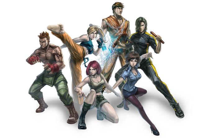 Gabriel, Megan, Natalia, Kyoryu, Ying Hua, and Brandon