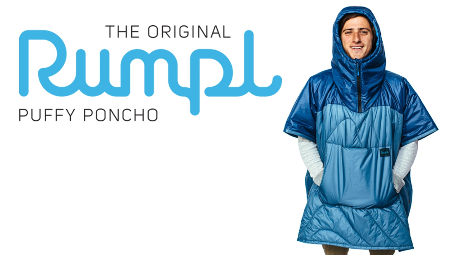 The Puffy Poncho is the greatest poncho ever. It's warm, cozy, waterproof, packable, machine washable, and it holds your beverage.